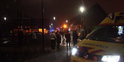 Gewonde bij brand, Emmastraat Hoogeveen. Foto: De Vries Media