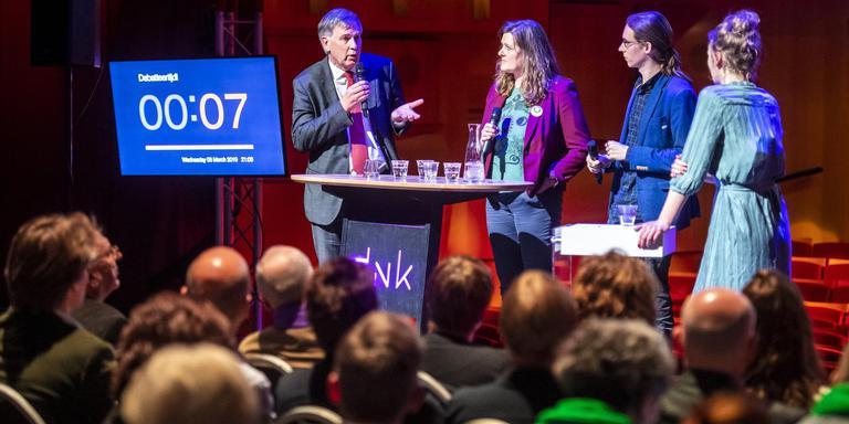 In DNK in Assen vond vanavond het verkiezingsdebat plaats, georganiseerd door het Dagblad van het Noorden. Foto: Marcel Jurian de Jong