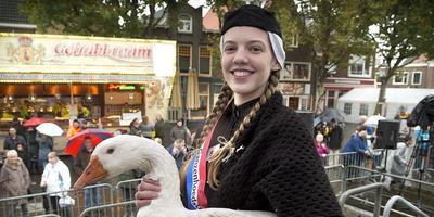 De nieuwe Miss Ganzenhoedster Michèlle Rozema. Foto Jan Anninga