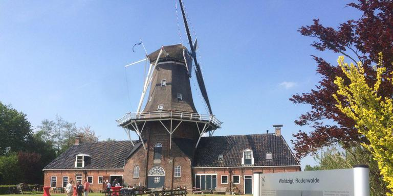 De molen Woldzigt in Roderwolde. FOTO DVHN