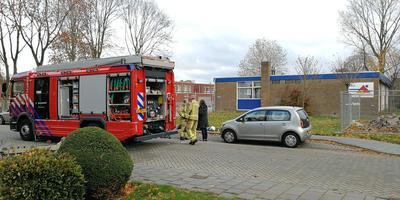 De brandweer was snel ter plekke bij de CBS Braakhekkeschool.
