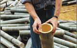 Dit verkeersbord is van... bamboe