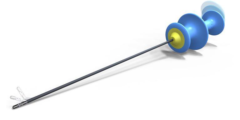 Het door Deam ontwikkelde precisie-instrument kan vrijwel alle kanten op bewegen.