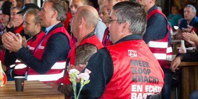 Een eerdere FNV-actie bij Ardagh in Hoogeveen.
