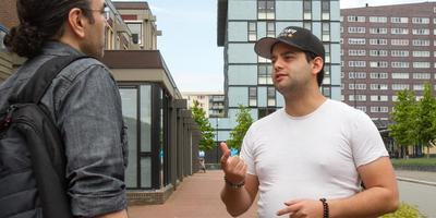 Derren de Jong(r) begeleidt start-up Jafar Lotfi