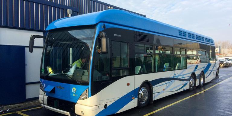 Qbuzz heeft al twee streekbussen die op waterstof reizen.