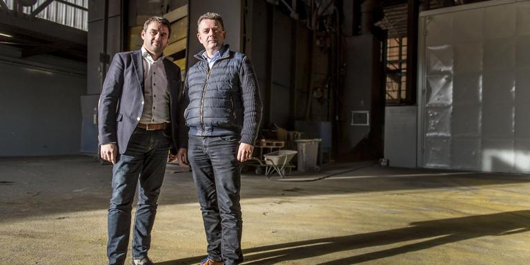 Herman Roose (links) en Diederik Binnema, oprichters van mastenfabriek STEG.