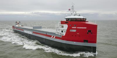Een van de offshore-schepen die Wagenborg inzet op de Noordzee.