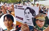 In Beeld: Machtsstrijd in Myanmar