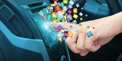 Het massaal gebruik van smartphones en het entertainment in auto's is slecht voor de concentratie van de bestuurders. Foto Shutterstock