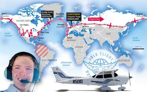 Het vluchtplan is flexibel om rekening te kunnen houden met slechte weersomstandigheden en corona-gerelateerde omleidingen.