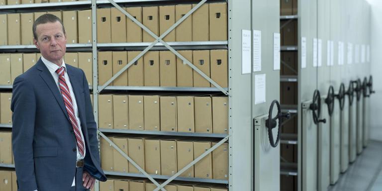Directeur André Dijkhuijs van archiefbedrijf Doc-Direkt in Winschoten. Foto: Martien Versteegh