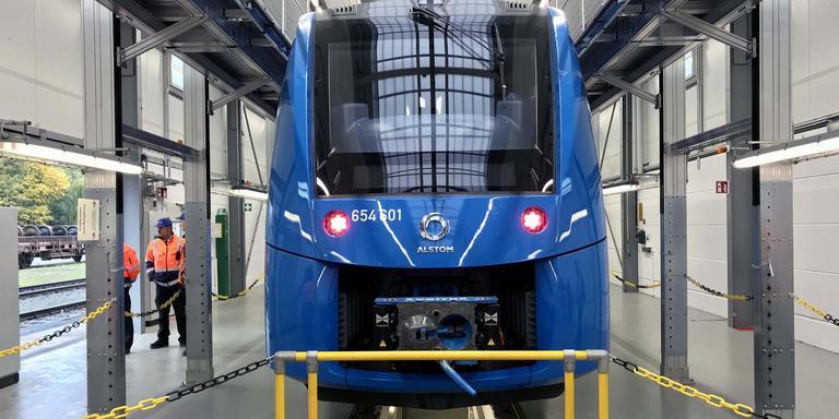 In het Duitse Salzgitter bouwt Alstom de Coradia iLint, een trein die rijdt op waterstof.