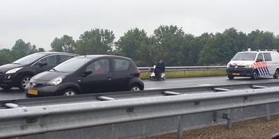 De man reed op een weg waar auto's 70 km/u mogen. Foto: Martin Nuver