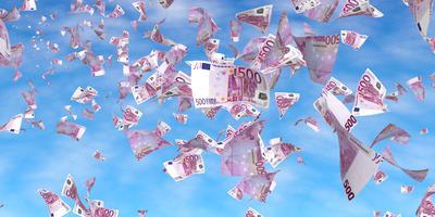 Voor zover bekend ging het in Groningen niet om biljetten van 500 euro, zoals op deze foto. Foto: Shutterstock
