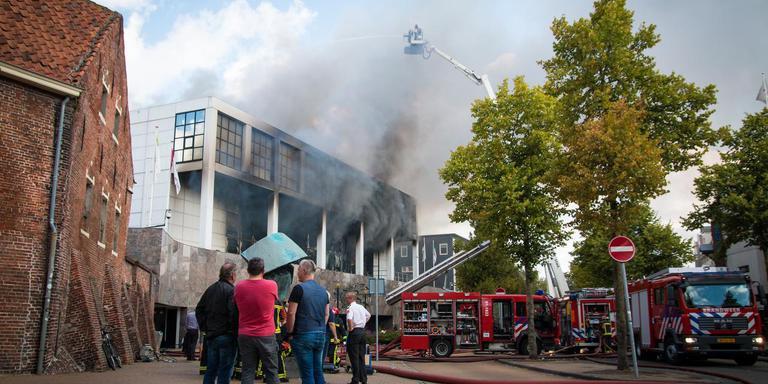 De vestiging van Holland Casino in Groningen brandde zondag volledig af.