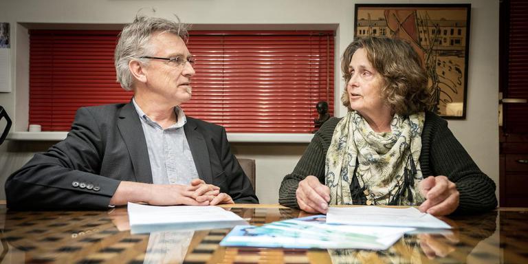 Sypke Visser en Marijke Mulder van Ouderplatform Volgbaar Onderwijs. Foto: Jaspar Moulijn