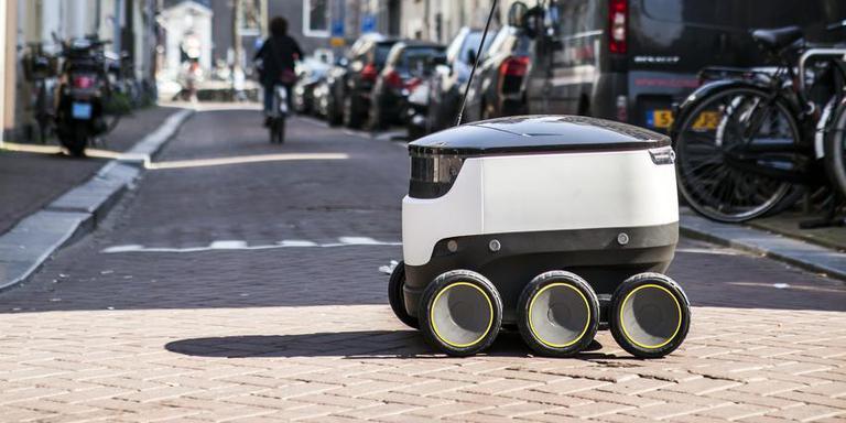 Deze robot zou binnenkort door de Groningse straten kunnen rijden.