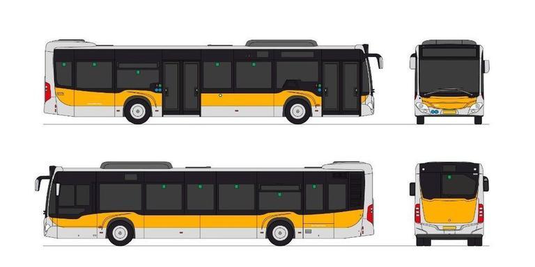 De afbeeldig uit de aanbestedingsstukken van het OV-bureau Groningen Drenthe. De bussen gaan vanaf december 2019 rijden.