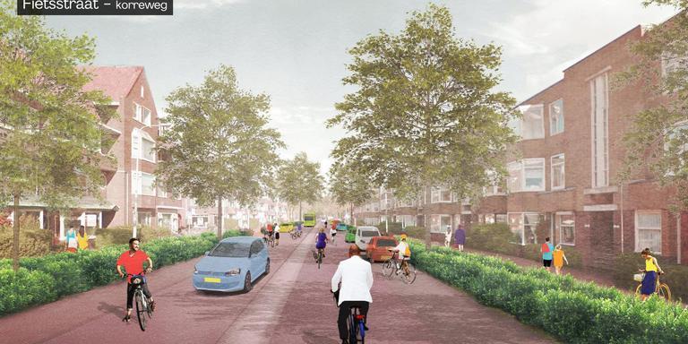 De Korreweg wordt fietsvriendelijk. Bron: Aanpak Oosterhamrikzone