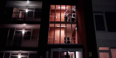 In 24 uur drie keer een liftstoring in deze flat aan de Dr. Tijdensstraat in Ter Apel.