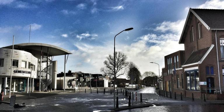De Poststraat in Scheemda. FOTO DvhN