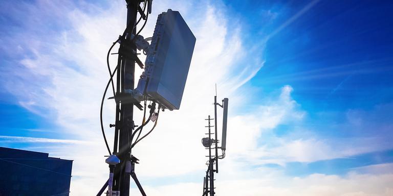 Een 5G-antennemast. Foto: Shutterstock