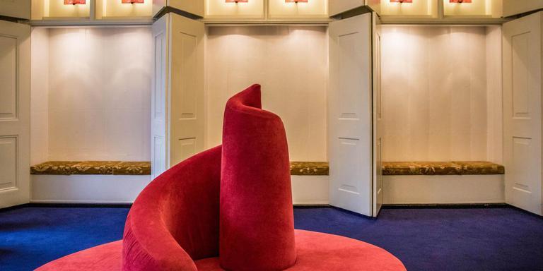 De wachtkamer bij de trouwzaal van het Stadhuis in Groningen. Foto: Archief DvhN