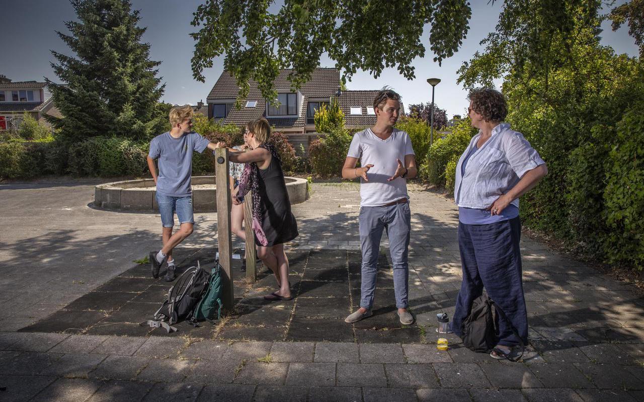 Bewoners van Paddepoel maken in de herfst de eerste plannen voor een buurtwarmtenet. Archieffoto stichting 050buurtwarmte