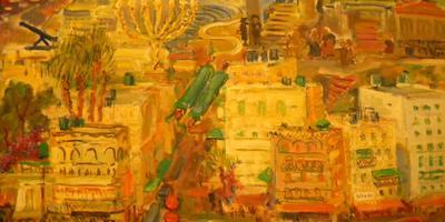 Het schilderij Jeruzalem van Josina Knap. Bron: Richard ter Borg