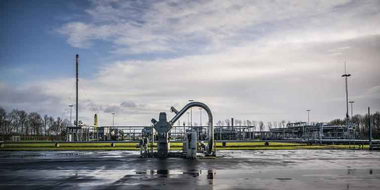 De gaswinningslocatie van de NAM in Overschild. Foto: Archief Kees van de Veen