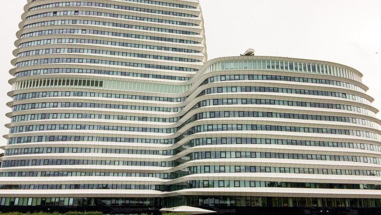 Het pand van DUO in Groningen. Foto DvhN