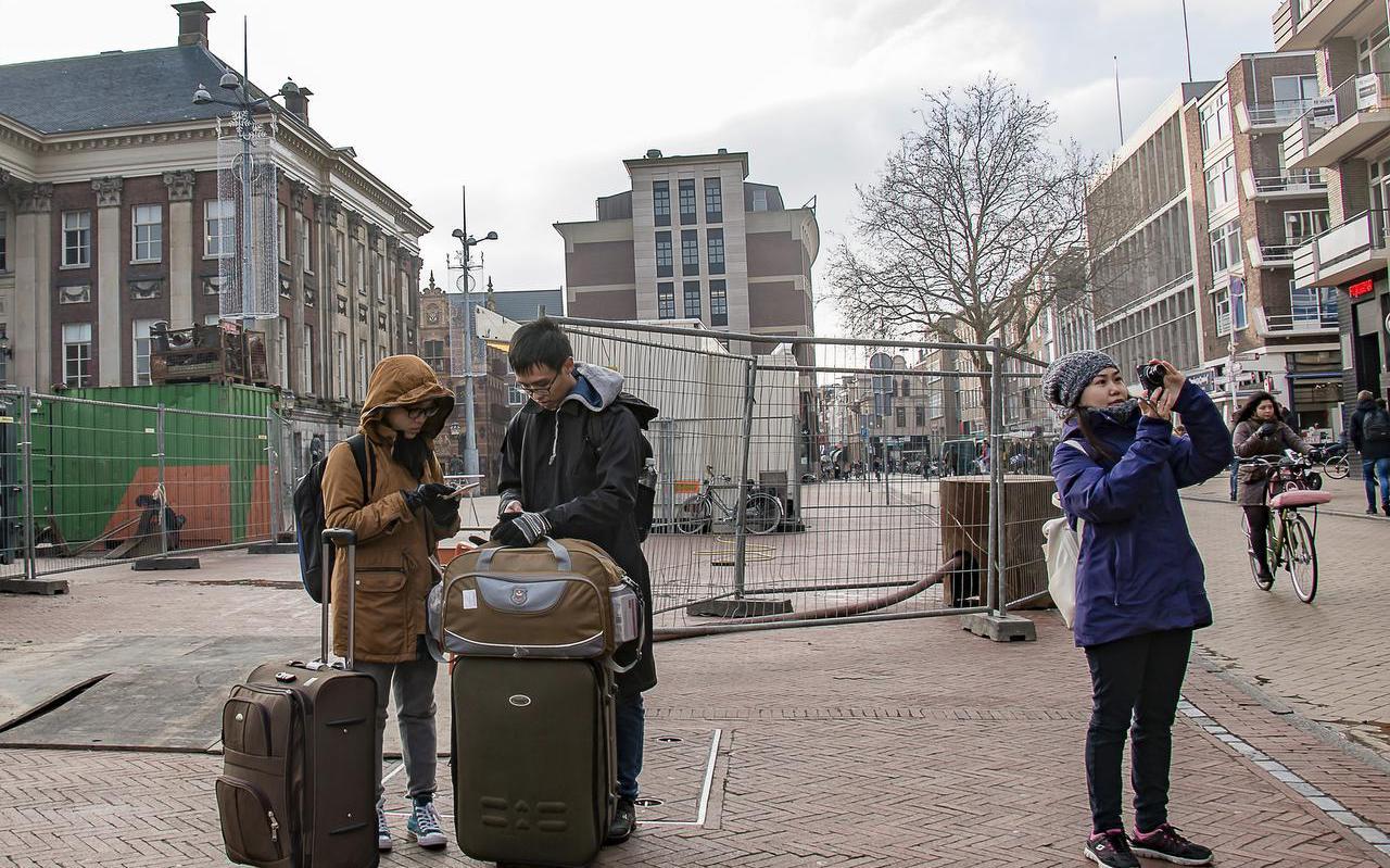 Chinese toeristen in Groningen.