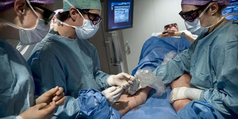 Spataderbehandeling in het Scheper Ziekenhuis.