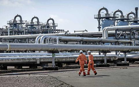 De ondergrondse gasopslag van de NAM bij Norg.