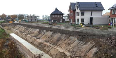 De illegaal gegraven sloot in Zuidhorn. Foto: DvhN