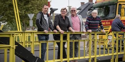Alexander van Dellen, Janet Wesseldijk, Jilke Snijder enTammo Huisinga (v.l.n.r.) van de Kulturele Kommissie Bedum.