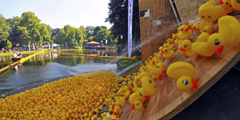 De Duckrace in het Noorderplantsoen.