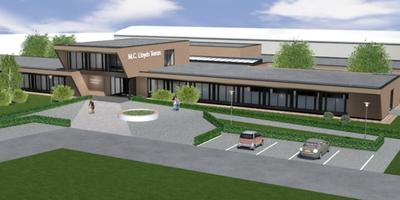 Het ontwerp van het gezondheidscentrum zoals dat er uit moet komen te zien.