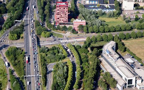 Europaplein richting het Julianaplein (FOTO: DVHN)