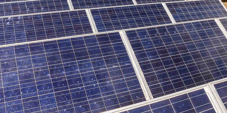 Er zijn steeds meer zonnepanelen te zien in de stad. Foto: DvhN