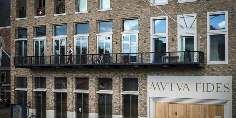 De societeit Mutua Fides van studentenvereniging Vindicat atque Polit aan de Grote Markt in Groningen. Foto: Kees van de Veen
