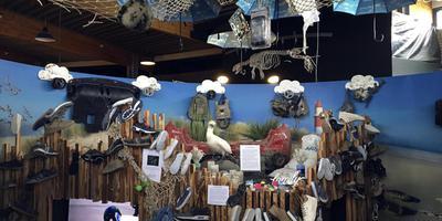 De gevonden spullen van de containerramp worden in Zeehondencentrum Pieterburen tentoongesteld. Foto: DvhN