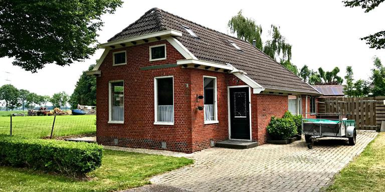 Het huisje in Godlinze dat de NAM gebruikte als testwoning.