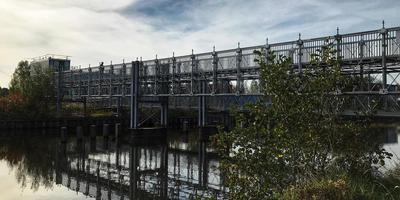 Dit is de brug die de studenten horen te gebruiken. Foto: Patriecia Kolthof