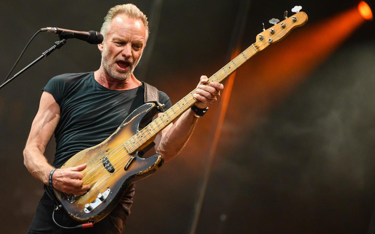 Sting was de hoofd-act tijdens Stadspark Live 2019. Foto: AFP