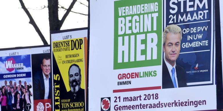 In Emmen doet de PVV woensdag wel mee aan de gemeenteraadsverkiezingen. Foto: Boudewijn Benting