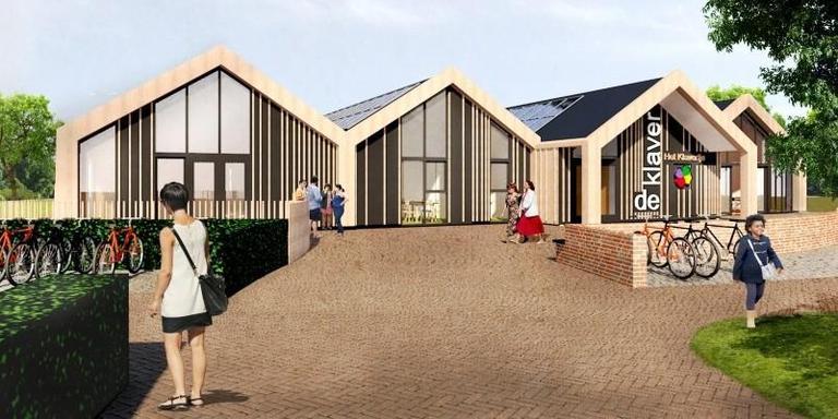 Voorbeeld uit het witboek: Aardbevingsbestendige school in Stedum. Illustratie: KAW Architecten