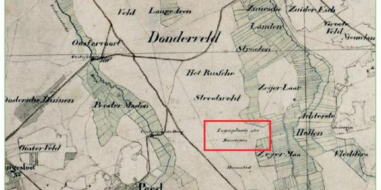 Topografische kaart rond 1850 (Staatsbosbeheer).