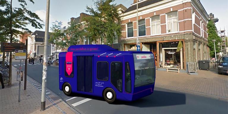 Zo gaat het nieuwe pendelbusje eruit zien. Beeld: Gemeente Groningen